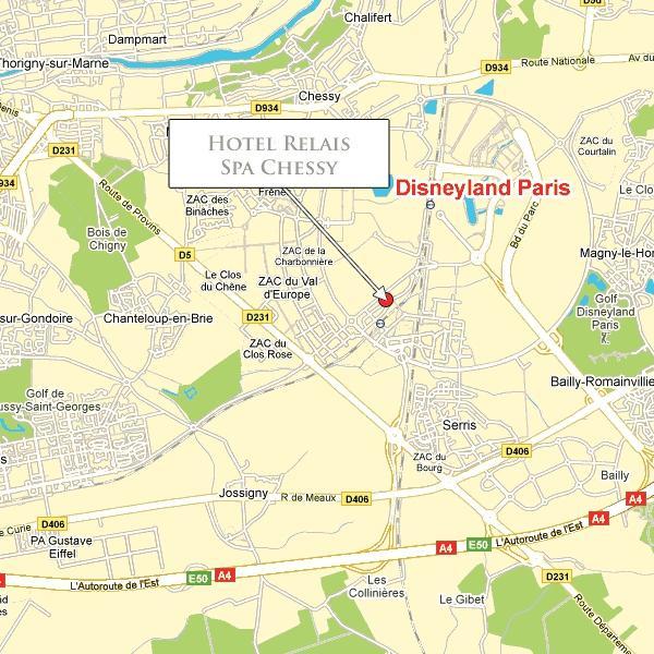 Location relais spa chessy hotel paris for Location hotel a paris